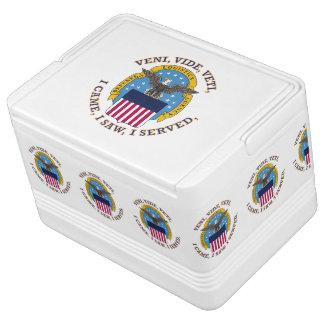 Escudo de la agencia de logística de defensa refrigerador igloo