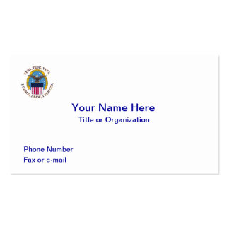 Escudo de la agencia de logística de defensa tarjetas de visita