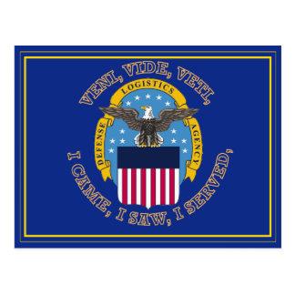 Escudo de la agencia de logística de defensa tarjeta postal