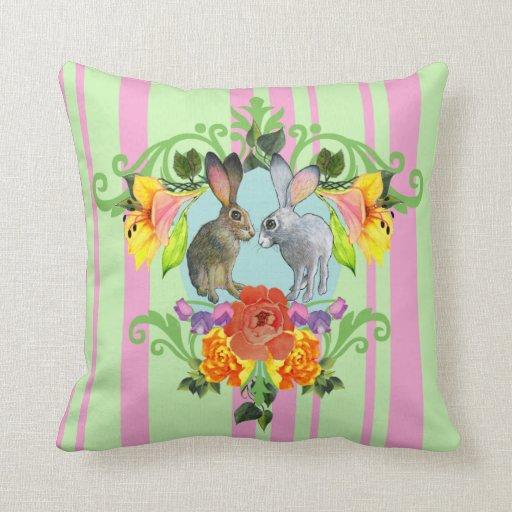 Escudo de la almohada del verde del rosa de los co