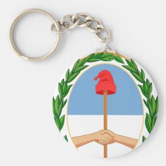 Escudo de la Argentina - escudo de armas de la Llavero Redondo Tipo Pin