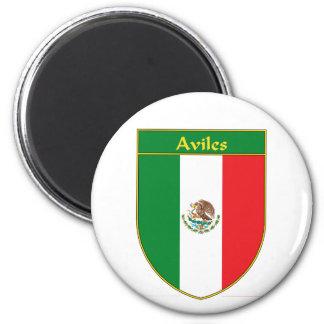Escudo de la bandera de Avilés México Imán De Nevera