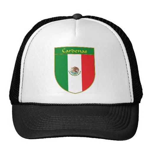 Escudo de la bandera de Cardenas México Gorro De Camionero