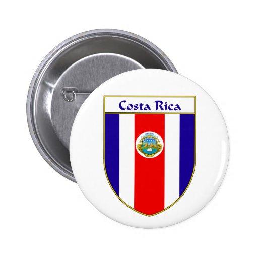 Escudo de la bandera de Costa Rica Pin