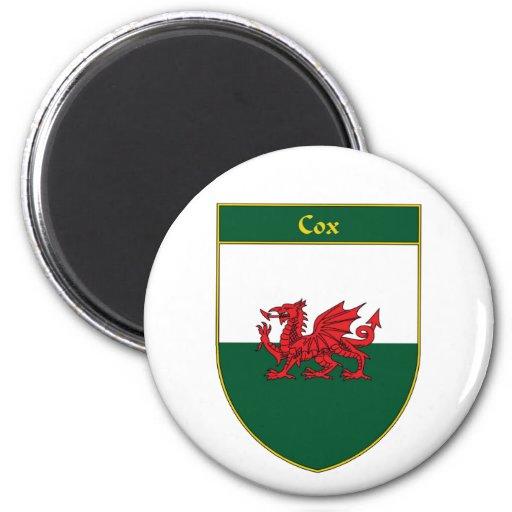 Escudo de la bandera de $cox Galés Imán De Nevera