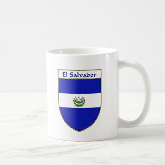 Escudo de la bandera de El Salvador Taza Básica Blanca
