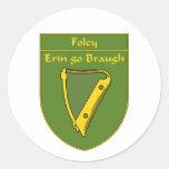 Escudo de la bandera de Foley 1798 Etiquetas Redondas