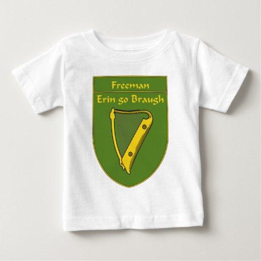 Escudo de la bandera de Freeman 1798 Playera De Bebé