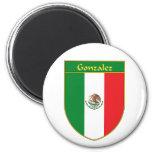 Escudo de la bandera de Gonzalez México Iman Para Frigorífico