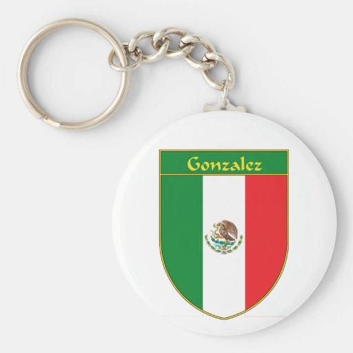 Escudo de la bandera de Gonzalez México Llaveros