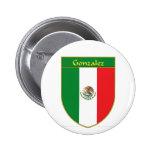 Escudo de la bandera de Gonzalez México Pin