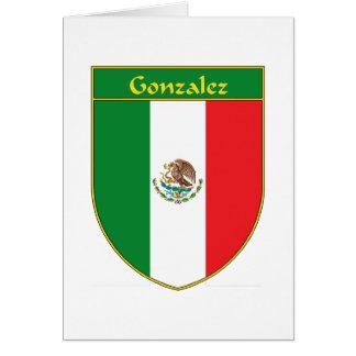 Escudo de la bandera de Gonzalez México Tarjeta De Felicitación
