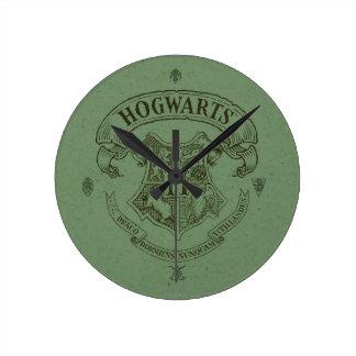 Escudo de la bandera de HOGWARTS™ Reloj Redondo Mediano