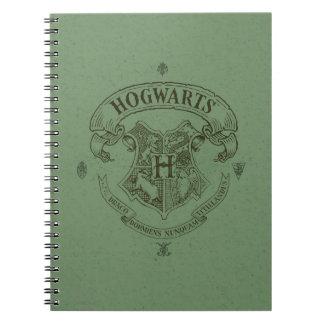 Escudo de la bandera de HOGWARTS™ Spiral Notebook