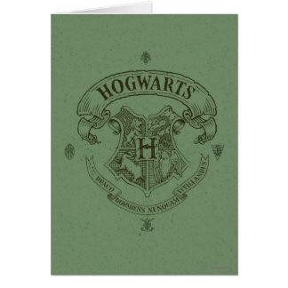 Escudo de la bandera de HOGWARTS™ Tarjeta De Felicitación