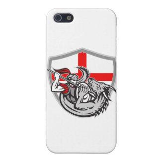 Escudo de la bandera de Inglaterra del dragón del iPhone 5 Carcasa
