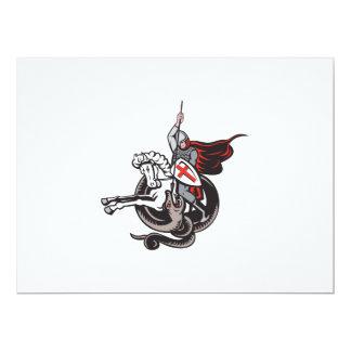 Escudo de la bandera de Inglaterra del dragón del Invitación 16,5 X 22,2 Cm