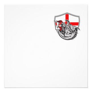 Escudo de la bandera de Inglaterra del dragón del Anuncio