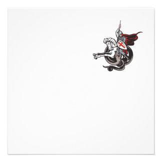 Escudo de la bandera de Inglaterra del dragón del Comunicado