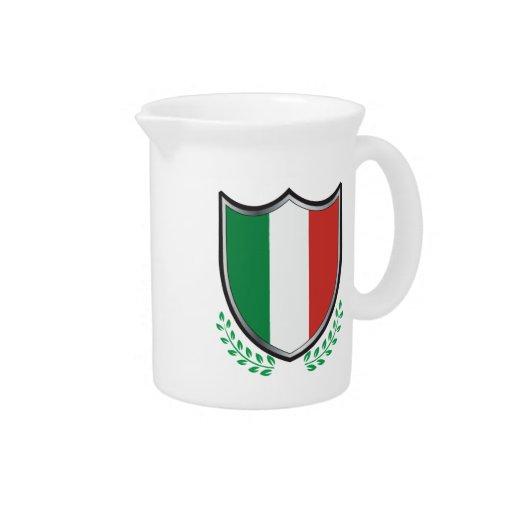 Escudo de la bandera de Italia con los laureles Jarrón