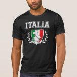 Escudo de la bandera de ITALIA del vintage Playera