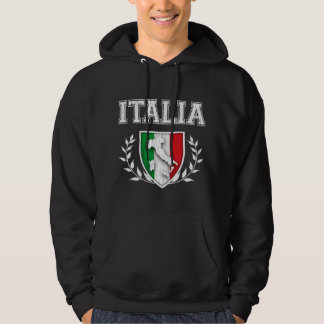 Escudo de la bandera de ITALIA del vintage Sudaderas Con Capucha