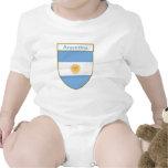 Escudo de la bandera de la Argentina Trajes De Bebé