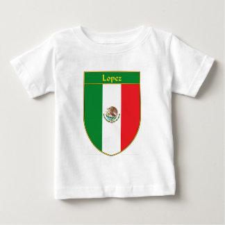 Escudo de la bandera de López México Playera De Bebé