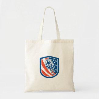 Escudo de la bandera de los E.E.U.U. del jinete de