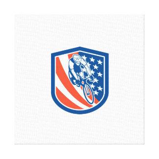 Escudo de la bandera de los E.E.U.U. del jinete de Impresión En Lona