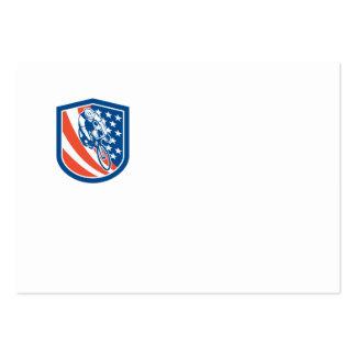 Escudo de la bandera de los E E U U del jinete de Tarjetas De Negocios