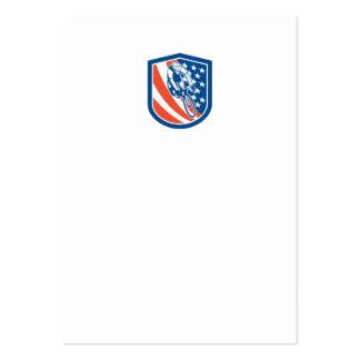 Escudo de la bandera de los E E U U del jinete de Tarjeta De Visita