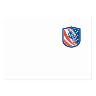 Escudo de la bandera de los E E U U del jinete de Plantilla De Tarjeta Personal