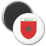 Escudo de la bandera de Marruecos Imán De Frigorífico