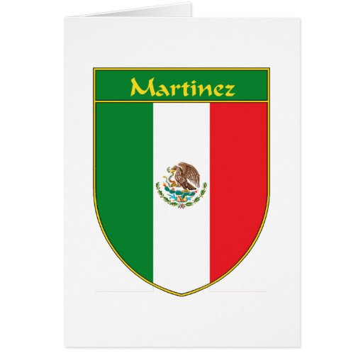 Escudo de la bandera de Martínez México Tarjeta De Felicitación
