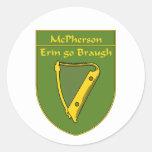 Escudo de la bandera de McPherson 1798 Pegatinas Redondas