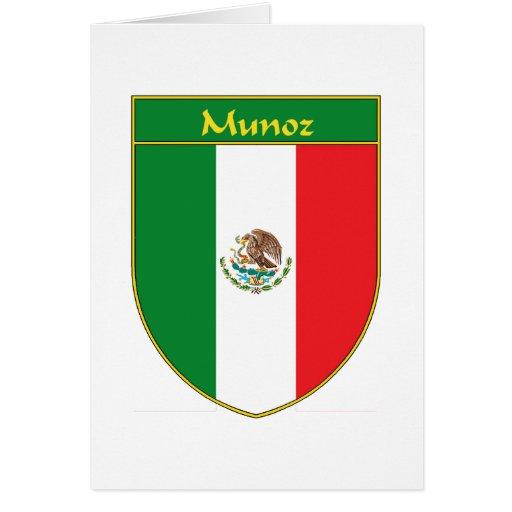 Escudo de la bandera de Munoz México Felicitación
