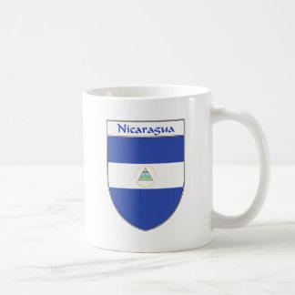 Escudo de la bandera de Nicaragua Taza Básica Blanca