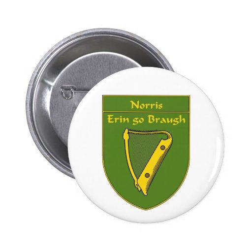 Escudo de la bandera de Norris 1798 Pin Redondo De 2 Pulgadas