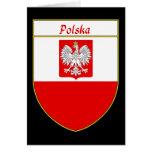 Escudo de la bandera de Polska Tarjeta