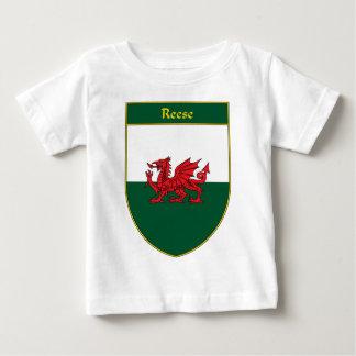 Escudo de la bandera de Reese Galés Playera De Bebé