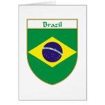 Escudo de la bandera del Brasil Felicitación