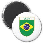 Escudo de la bandera del Brasil Imán De Frigorífico