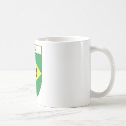 Escudo de la bandera del Brasil Taza Clásica