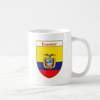 Escudo de la bandera del Ecuadorian Taza Básica Blanca