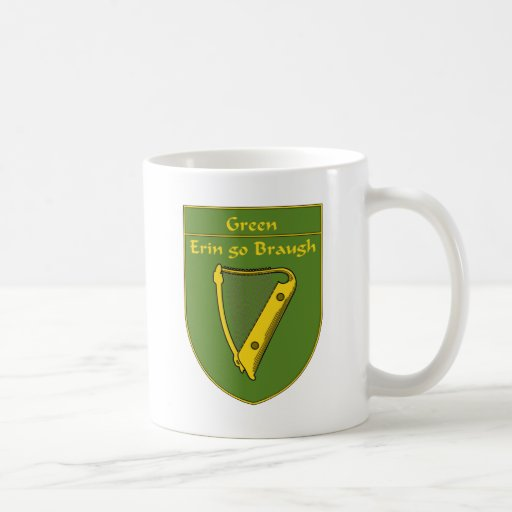 Escudo de la bandera del verde 1798 taza de café