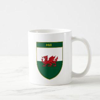 Escudo de la bandera Galés de la colina Taza