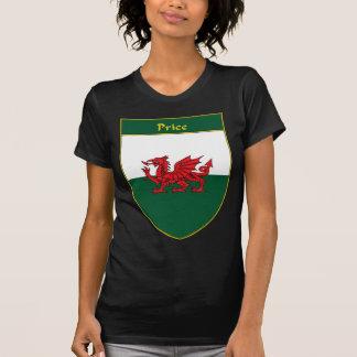 Escudo de la bandera Galés del precio Camisetas