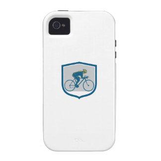 Escudo de la bici de montaña del montar a caballo iPhone 4/4S funda