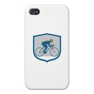 Escudo de la bici de montaña del montar a caballo iPhone 4/4S carcasa